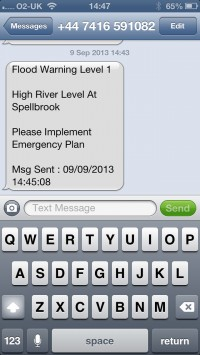 SMS Text Flood Warnings