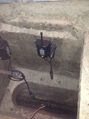 Blocked Sewer Alarm System Installed