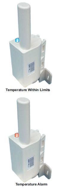 Temperature Sensors - Normal and Alarm vertical