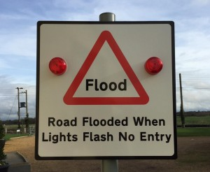 Automated Flood Warning Sign