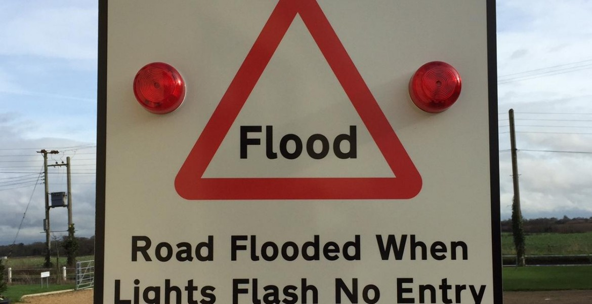 Auromated Flood Warning Signs