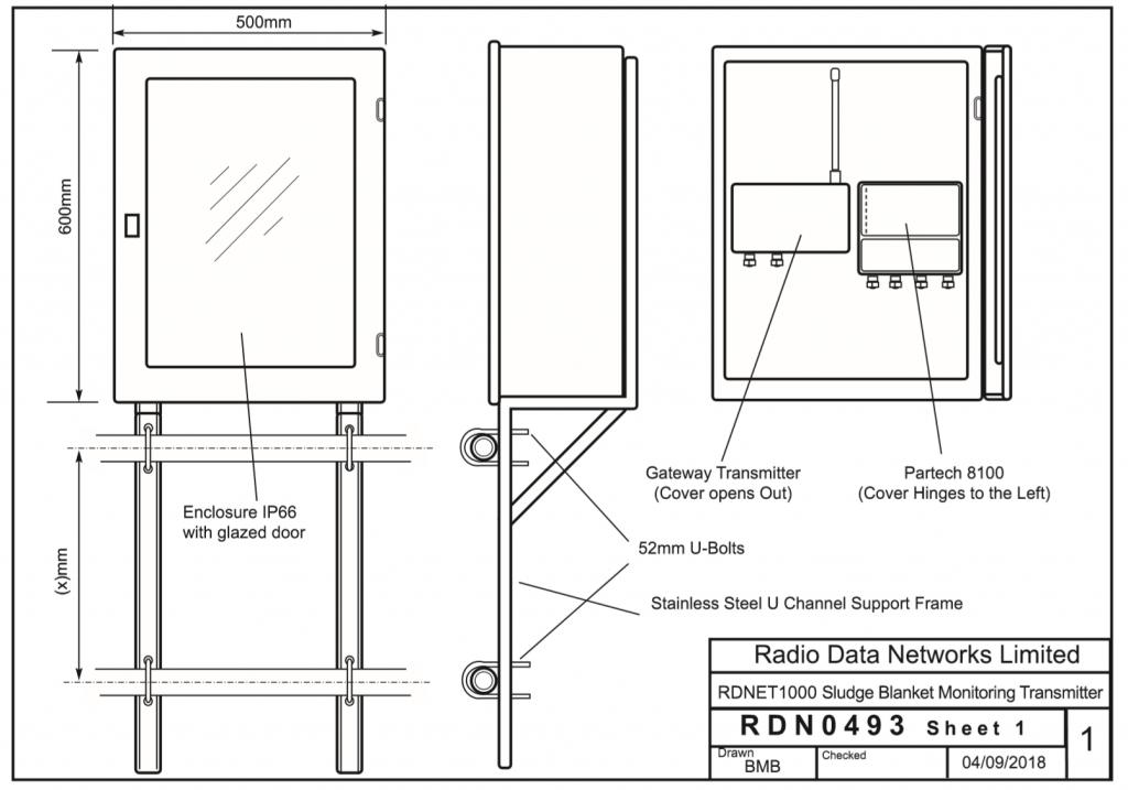 Sludge Blanket Monitoring Drawing Example