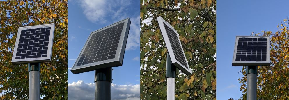 10W Solar Panel Pole Top Mount